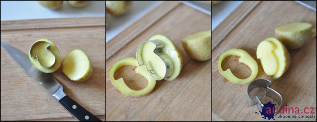 koláž razítka z bramborw