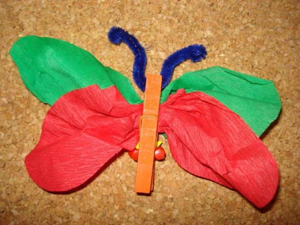 Motýl z kolíčku